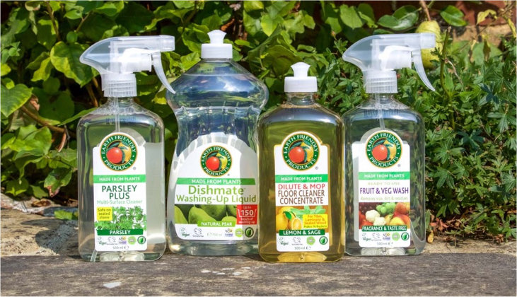 Selection of eco-friendly cleaning products